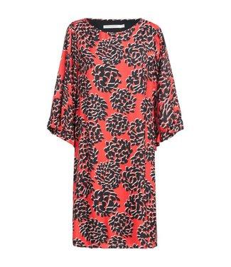 Summum 5s987-10664 Dress fantasy flower print 348-Flame red