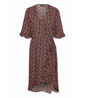 Soaked in Luxery 30404071 SX Pernille Flower wrap dress 42004 Navy with flowers