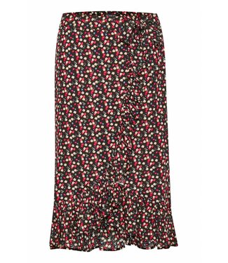 Soaked in Luxery 30404070 SX Pernille Flower skirt 42004 Navy with flowers