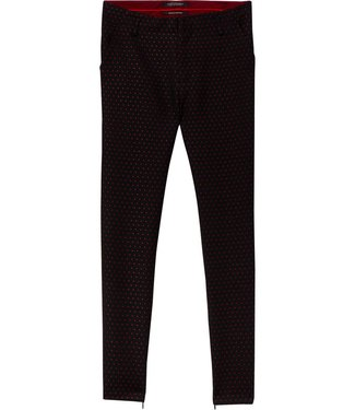 Maison Scotch 148417-98 Tailored stretch pants in star jacquard