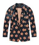 Maison Scotch 146288-0589 Longer length blazer with snow leopard jacquard pattern