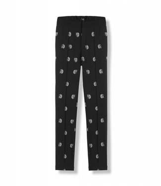 Alix 187104916 Ladies woven dot leopard pants – Black