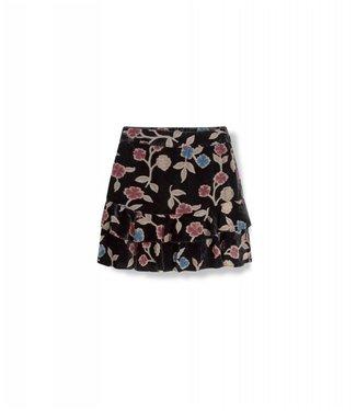 Alix 187287877 Ladies woven flower skirt – Black