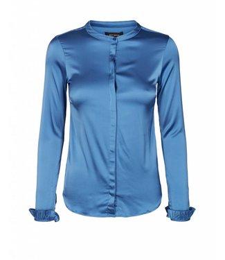 Mos Mosh 125090 Mattie Satin Shirt – 429 Federal Blue