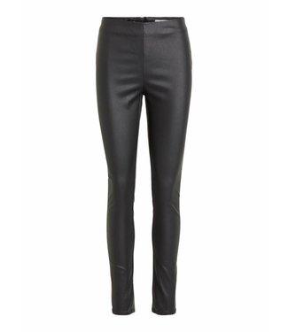 Vila 14049672 Vicommit coated plain legging Black