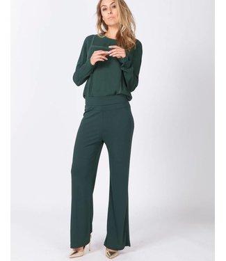 Moscow HW18-03.02 Pants Heavy Crepe Jersey Dark smaragd