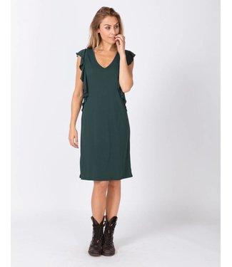 Moscow HW18-03.01 Dress Heavy Crepe Jersey Dark smaragd