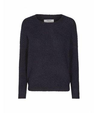MOSS Copenhagen 12571 Femme Rib Mohair Pullover Black