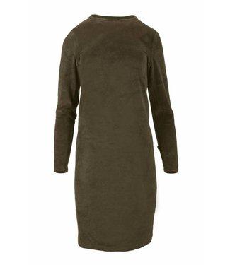 Zusss 03FJ18n Fluweel jurkje met turtleneck