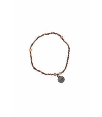 Zusss 04FK18nAko fijn kralenarmbandje Koper 18cm