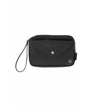 Zusss 02HP18nAzw Handige portemonnee-clutch Zwart  20x13x2cm