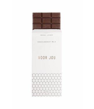 Zusss 07CR18nBvo Chocoladereep melk voor jou 16x8cm