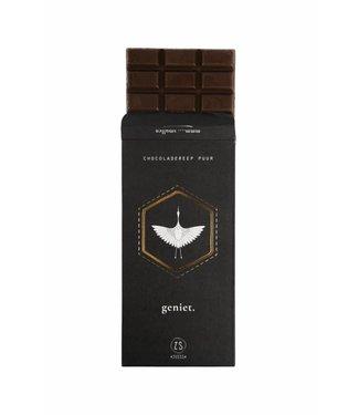 Zusss 07CR18nCge Chocoladereep puur geniet 16x8cm