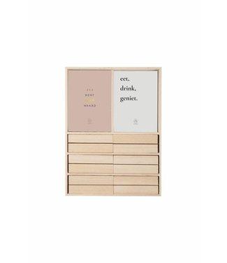 Zusss 07GT18nA Set Gezellige tafelwensen 16,5x22cm