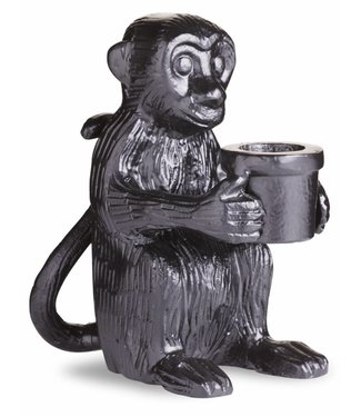 Yaya Home H000077 Monkey candleholder Black