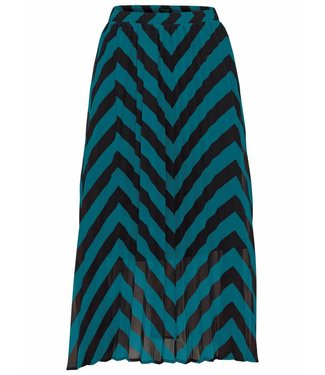Selected Femme 16066466 Slfella mw plisse skirt ex teal green stripe