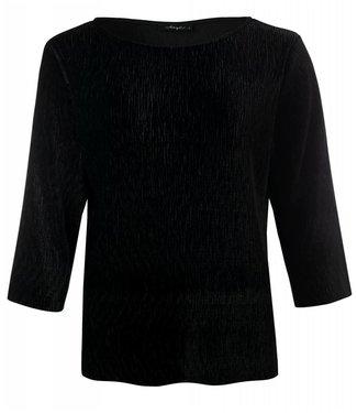 Dayz Loïs Plisse velours top in black