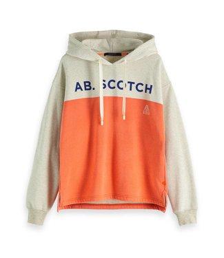 Amsterdams Blauw 148613-17 Terry felpa boxy hooded sweat