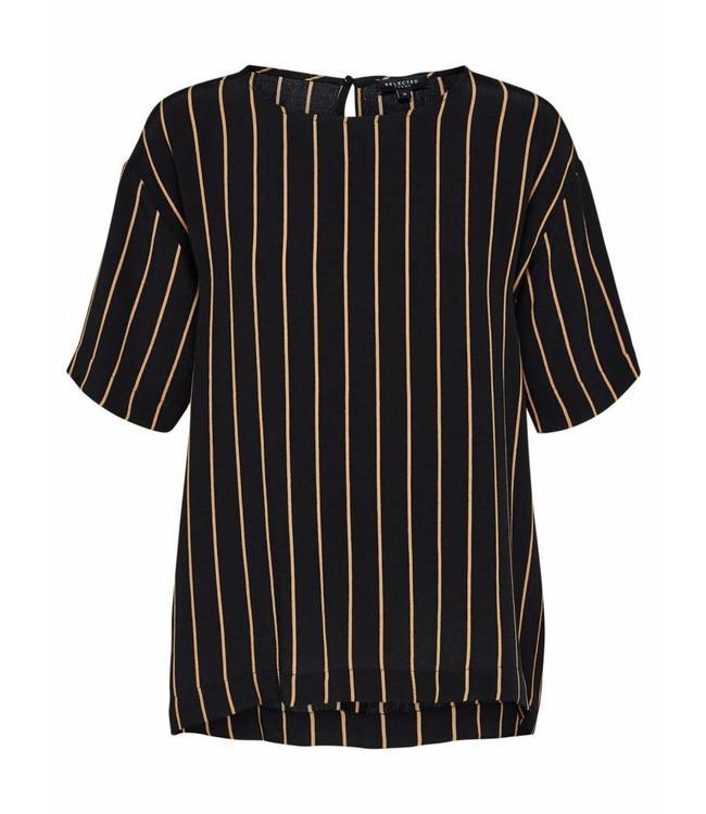 Selected Femme 16065111 SLFalessa 2/4 Top Stripes