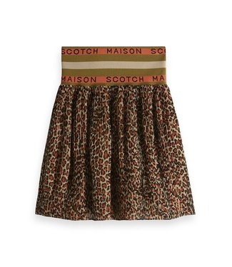 Maison Scotch 149918 Pleated skirt with 'maison scotch' elastic waistband