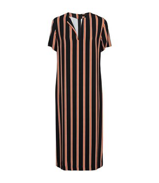 Summum 5s1031-10783 Dress striped crepe viscose
