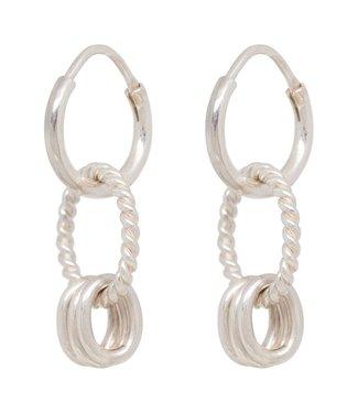 Anna+Nina 18-1M902022S Rope multi ring earring