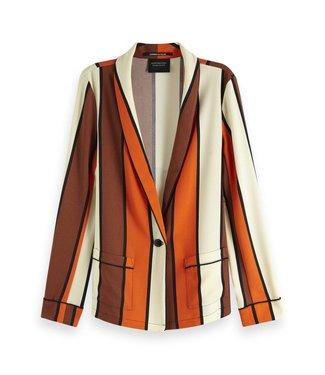 Maison Scotch 150031 Striped drapey pyjama blazer