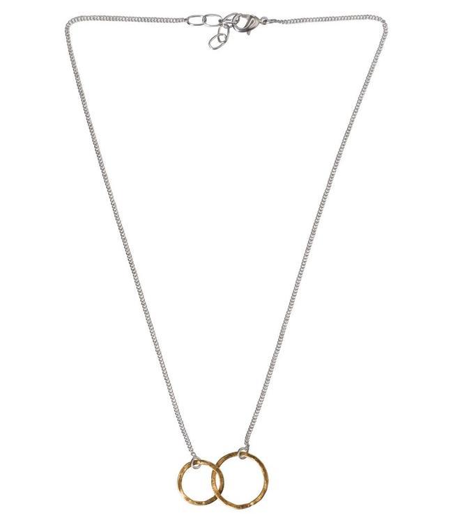 Yaya 1333333-911 Necklace brass hoops