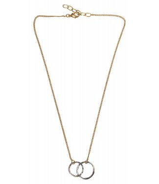 Yaya 1333333-911 Necklace brass hoops.