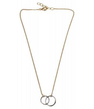 Yaya 1333333-911 Necklace brass hoops.