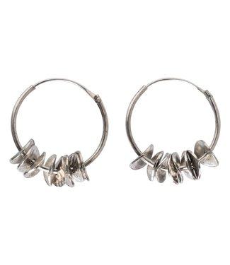 Yaya 133334-911 Brass hoop earrings with coins.