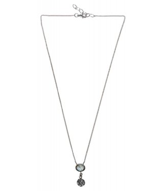 Yaya 133336-911 Brass necklace with small stone and hanger