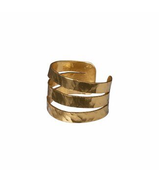 Yaya 133338-911 Hammered brass ring