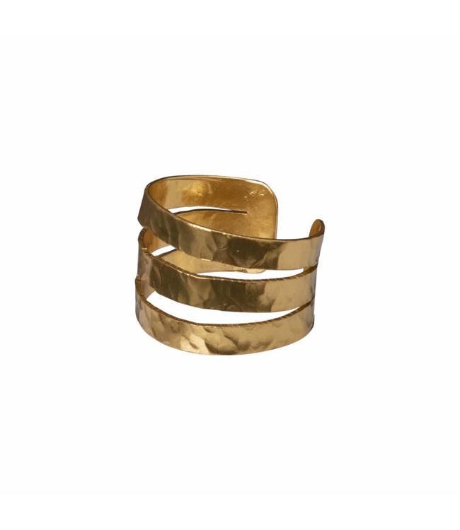 Yaya 133338-911 Hammered brass ring