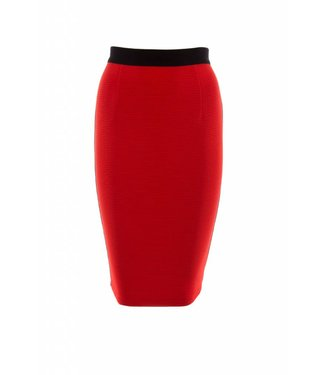 Juffrouw Jansen Jente S19ri608 tight skirt side tape