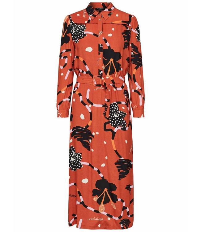 Selected Femme 16066361 Slfkiara ls midi dress