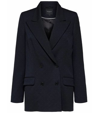 Selected Femme 16065329 SLFgabby LS Blazer white dots