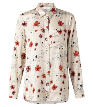 Yaya 110146-912 Blouse with flower print and front pocket