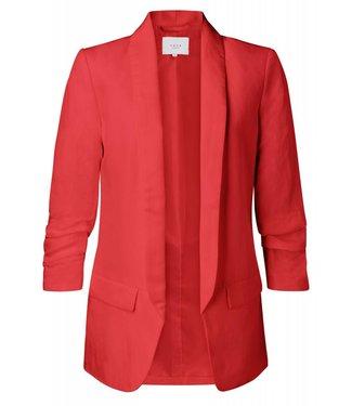 Yaya 150125-912 Linen blazer with gathered sleeves