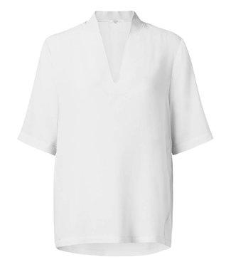 Yaya 190195-912 V-neck top with small collar