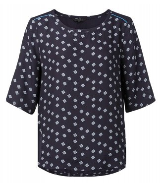 Yaya 1901100-912 Top with print and shoulder detail