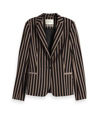 Maison Scotch 150035 Classic tailored blazer in stripes and solids