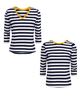 Summum 3s4225-30019 Top long sleeve two tone stripe
