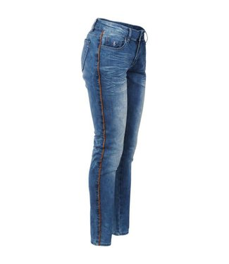 Summum 4s1667-10826 Jeans active denim with piping