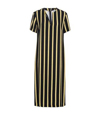 Summum 5s1031-10783 Dress striped crepe viscose.