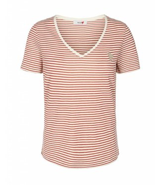 Mos Mosh 125830 Kenia Glam Stripe V-neck