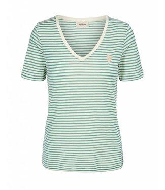 Mos Mosh 125830 Kenia Glam Stripe V-neck.