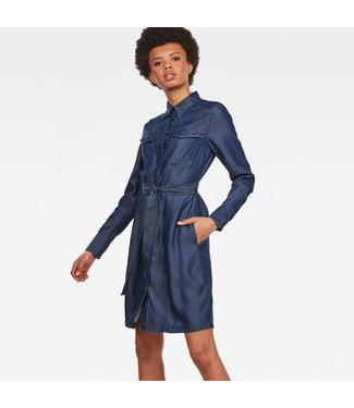 G-Star D13569-8618-082 Tacoma straight flare shirt dress l\s