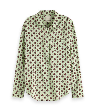 Maison Scotch 149789. Oversized boxy ft cotton viscose shirt