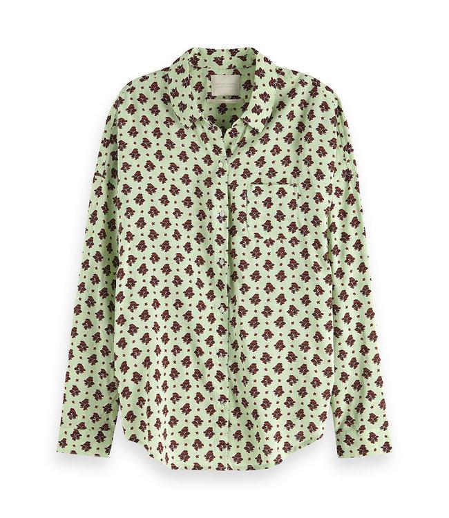 Maison Scotch 149789. Oversized boxy ft cotton viscose shirt